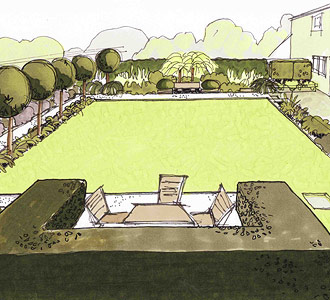 How Caroline Benedict Smith works - Garden Design Cheshire - The vision