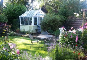 Solutions for clay soil gardens-greenhouse- Caroline Benedict Smith Garden Design Cheshire