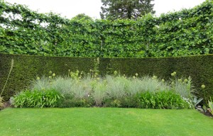 Solutions for clay soil gardens-mounded raised bed- Caroline Benedict Smith Garden Design Cheshire