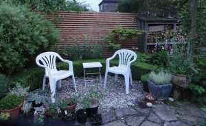 Solutions for clay soil gardens-outdoor seating- Caroline Benedict Smith Garden Design Cheshire