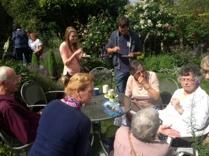 Enjoying the cakes - Open Garden Cheshire - Caroline Benedict Smith Garden Design Cheshire