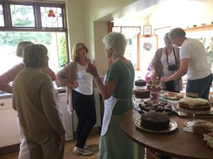 Preparing the Teas and Cakes - Open Garden Cheshire - Caroline Benedict Smith Garden Design Cheshire